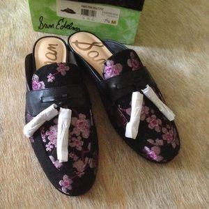 New Sam Edelman Tassel Cherry Blossom Mule Loafers